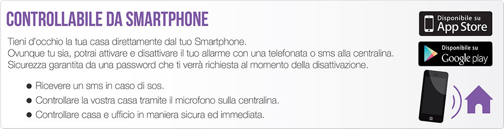 Controllabile da Smartphone Wireless