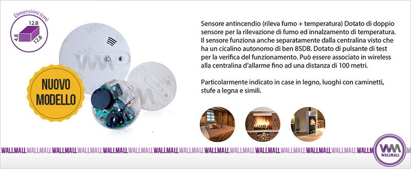 Sensore fumo e temperatura