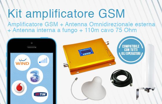 Kit amplificatore GSM con antenna esterna omnidirezionale