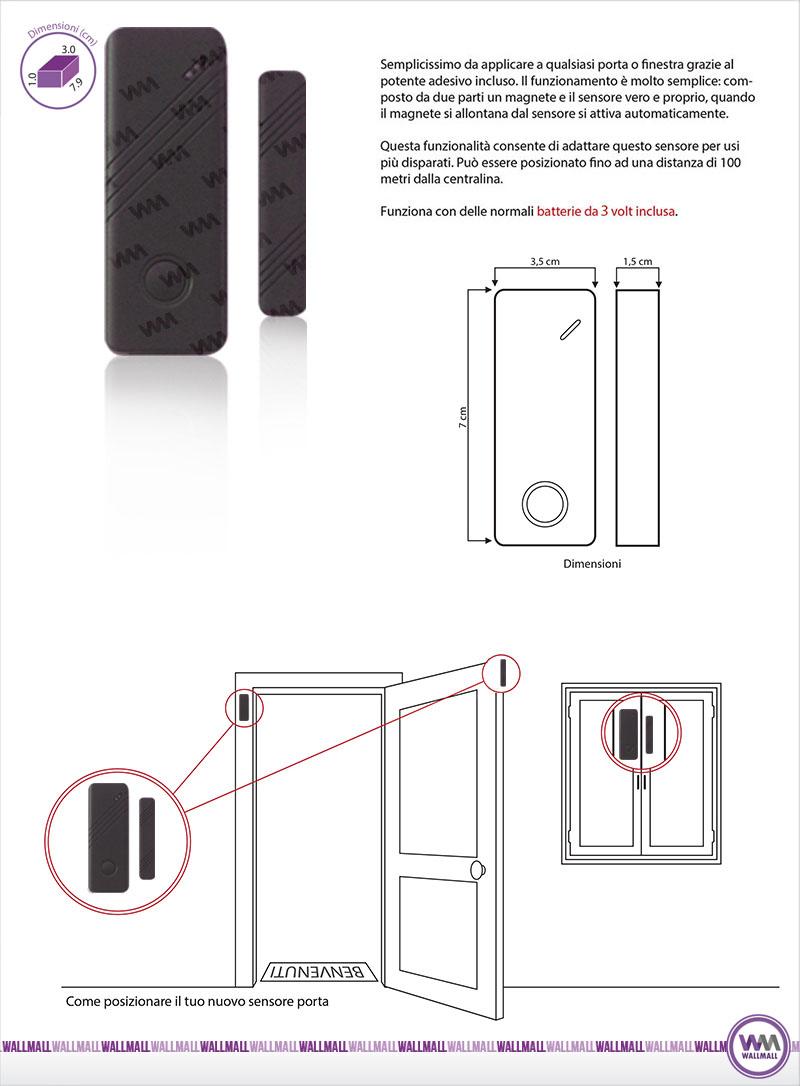 Sensore porte e finestre