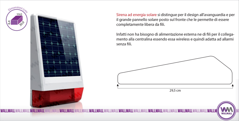 Sirena solare wireless