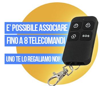 Telecomando sos in omaggio fino a 4 telecomandi associabili