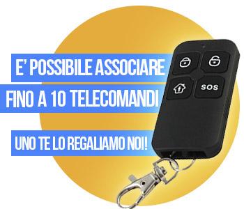 Telecomando sos in omaggio fino a 10 telecomandi associabili