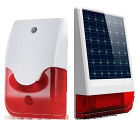 Sirene  Esterne e interne wireless e filari per il tuo antifurto wireless GSM